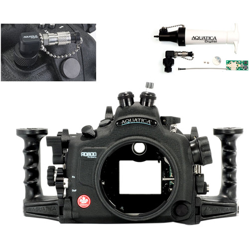 Aquatica AD800 Underwater Housing for Nikon D800 or D800E with Vacuum Check System (Dual Optical Strobe Connectors)