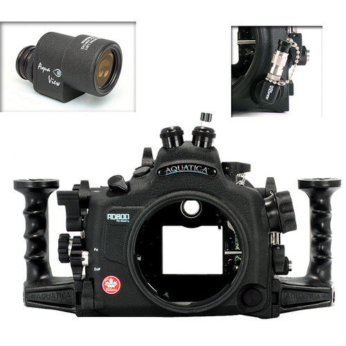 Aquatica AD800 Underwater Housing for Nikon D800 or D800E with Aqua VF and Vacuum Check System (Dual Fiber-Optic Connectors)