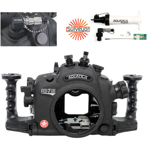 Aquatica AD7100/200 Underwater Housing for Nikon D7100 or D7200 Vacuum Check System (Optical and Nikonos Strobe Connectors)
