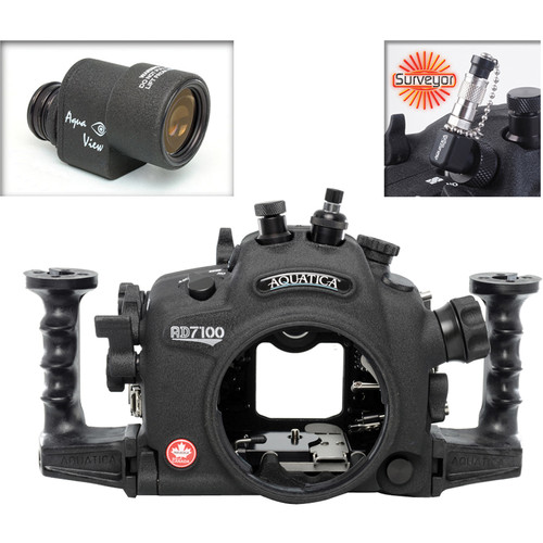 Aquatica AD7100/200 Underwater Housing for Nikon D7100 or D7200 with Aqua VF and Vacuum Check System (Optical and Nikonos Strobe Connectors)