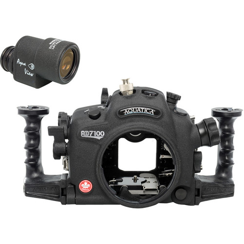 Aquatica AD7100/200 Underwater Housing for Nikon D7100 or D7200 with Aqua VF (Ikelite M/TTL Strobe Connector)