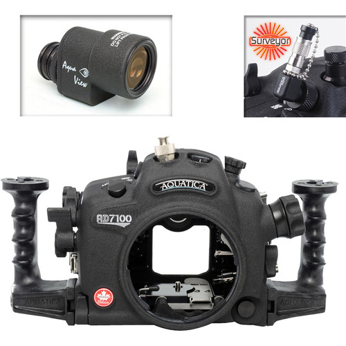 Aquatica AD7100/200 Underwater Housing for Nikon D7100 or D7200 with Aqua VF and Vacuum Check System (Ikelite M/TTL Strobe Connector)