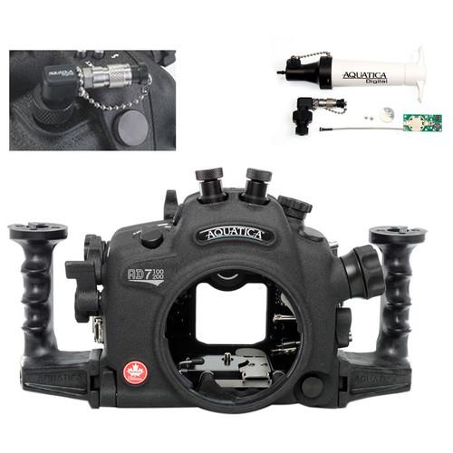 Aquatica AD7100/200 Underwater Housing for Nikon D7100 or D7200 Vacuum Check System (Dual Nikonos Strobe Connectors)