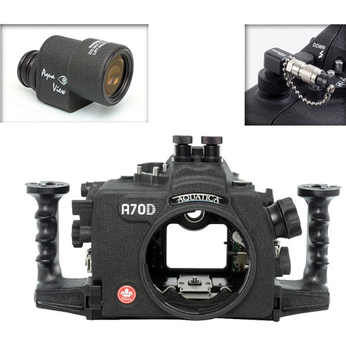 Aquatica AD7100/200 Underwater Housing for Nikon D7100 or D7200 with Aqua VF and Vacuum Check System (Dual Nikonos Strobe Connectors)
