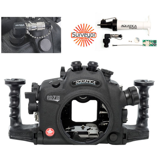 Aquatica AD7100/200 Underwater Housing for Nikon D7100 or D7200 Vacuum Check System (Dual Optical Strobe Connectors)