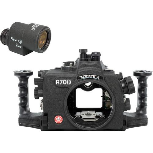 Aquatica A70D Underwater Housing for Canon EOS 70D with Aqua VF (Fiber-Optic & Nikonos Strobe Connectors)