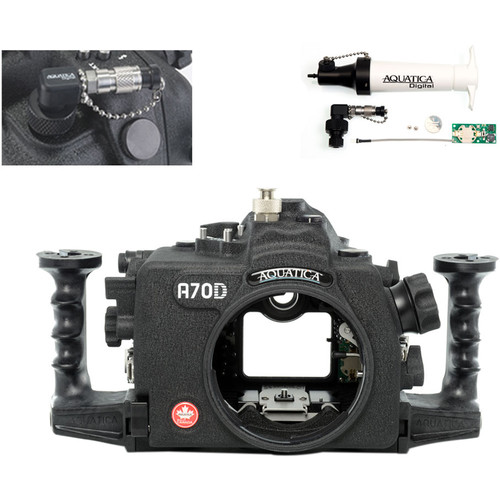 Aquatica A70D Underwater Housing for Canon EOS 70D with Vacuum Check System (Ikelite Strobe Connector)