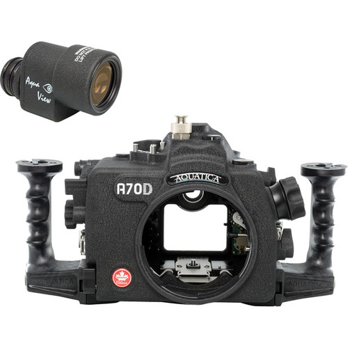 Aquatica A70D Underwater Housing for Canon EOS 70D with Aqua VF (Ikelite Strobe Connector)