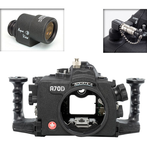 Aquatica A70D Underwater Housing for Canon EOS 70D with Aqua VF and Vacuum Check System (Ikelite Strobe Connector)