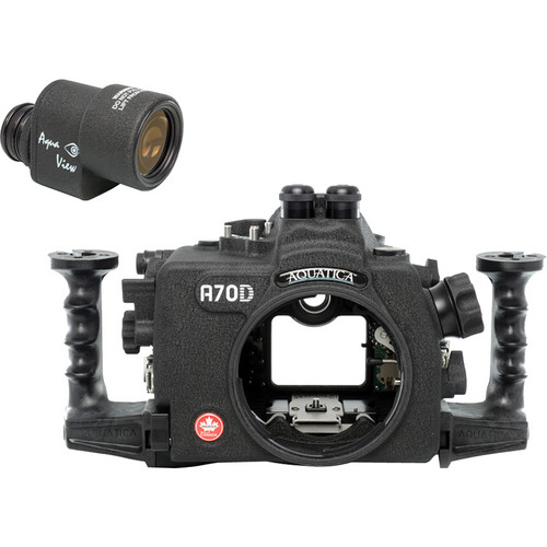 Aquatica A70D Underwater Housing for Canon EOS 70D with Aqua VF (Dual Optical Strobe Connectors)
