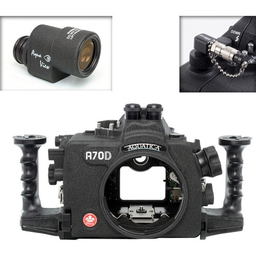 Aquatica A70D Underwater Housing for Canon EOS 70D with Aqua VF and Vacuum Check System (Dual Optical Strobe Connectors)