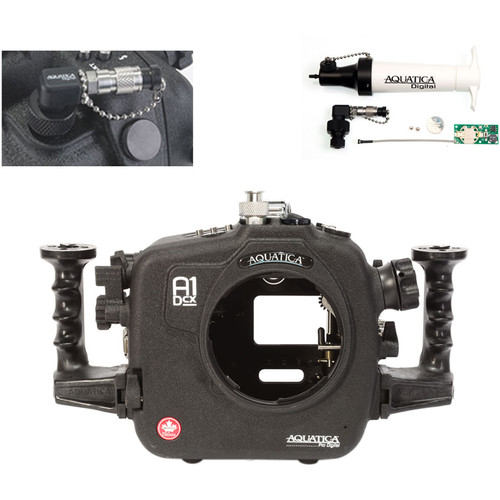Aquatica A1Dcx Pro Underwater Housing for Canon EOS-1D C or 1D X with Vacuum Check System (Ikelite Manual Strobe Connector)