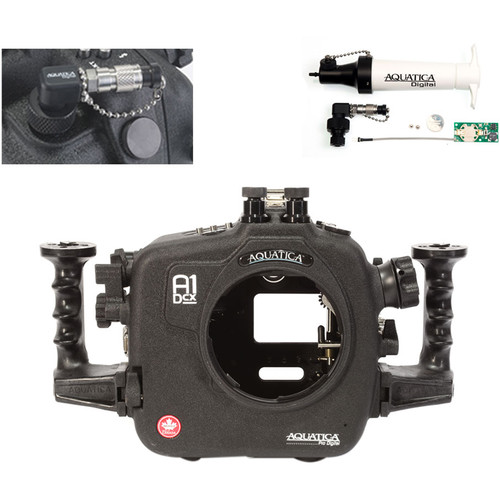 Aquatica A1Dcx Pro Underwater Housing for Canon EOS-1D C or 1D X with Vacuum Check System (Dual Nikonos Strobe Connectors)
