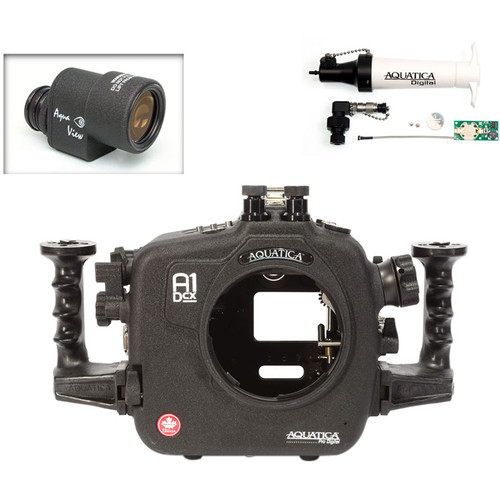 Aquatica A1Dcx Pro Underwater Housing for Canon EOS-1D C or 1D X with Aqua VF and Vacuum Check System (Dual Nikonos Strobe Connectors)