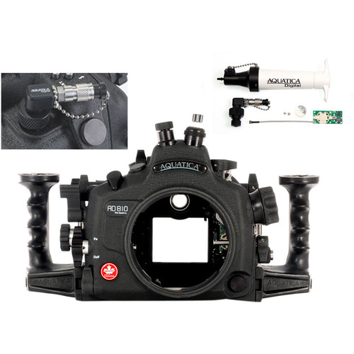 Aquatica AD810 Pro Underwater Housing for Nikon D810 with Vacuum Check System (Optical and Nikonos Strobe Connectors)