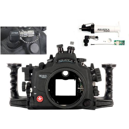 Aquatica AD810 Pro Underwater Housing for Nikon D810 with Vacuum Check System (Fiber-Optic & Nikonos Strobe Connectors)