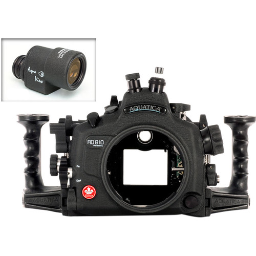 Aquatica AD810 Pro Underwater Housing for Nikon D810 with Aqua VF (Fiber-Optic & Nikonos Strobe Connectors)