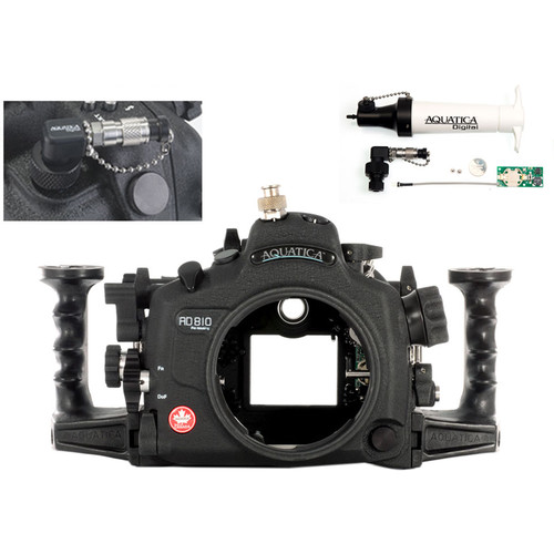 Aquatica AD810 Pro Underwater Housing for Nikon D810 with Vacuum Check System (Ikelite TTL/Manual Strobe Connector)