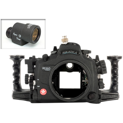 Aquatica AD810 Pro Underwater Housing for Nikon D810 with Aqua VF (Ikelite TTL/Manual Strobe Connector)