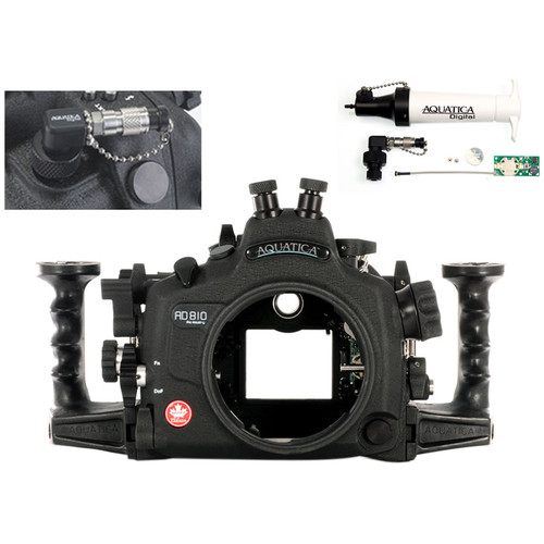 Aquatica AD810 Pro Underwater Housing for Nikon D810 with Vacuum Check System (Dual Nikonos Strobe Connectors)