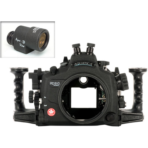Aquatica AD810 Pro Underwater Housing for Nikon D810 with Aqua VF (Dual Nikonos Strobe Connectors)