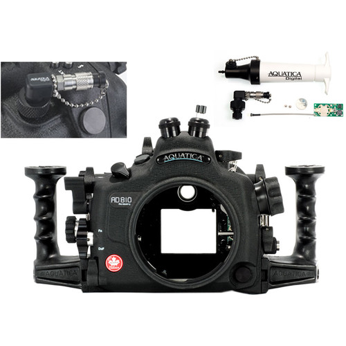 Aquatica AD810 Pro Underwater Housing for Nikon D810 with Vacuum Check System (Dual Fiber-Optic Strobe Connectors)