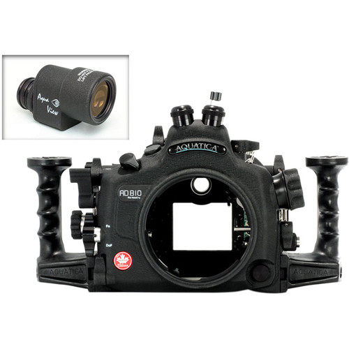 Aquatica AD810 Pro Underwater Housing for Nikon D810 with Aqua VF (Dual Fiber-Optic Strobe Connectors)