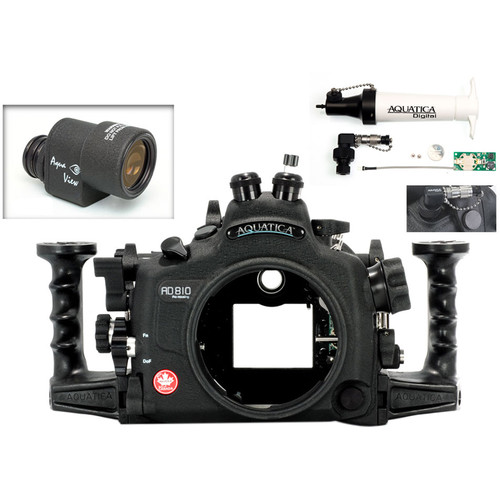 Aquatica AD810 Pro Underwater Housing for Nikon D810 with Aqua VF and Vacuum Check System (Dual Optical Strobe Connectors)