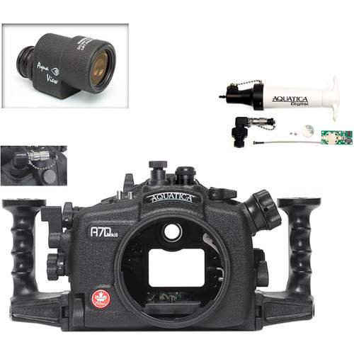 Aquatica A7D Mk II Underwater Housing for Canon 7D Mark II with Aqua VF and Vacuum Check System (Optical and Nikonos Strobe Connectors)
