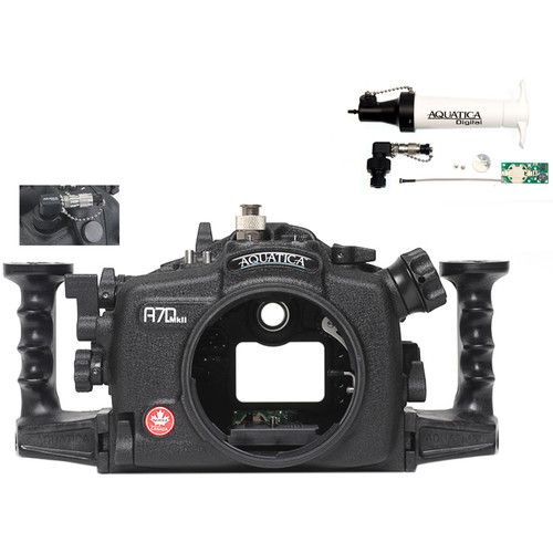Aquatica A7D Mk II Underwater Housing for Canon 7D Mark II with Vacuum Check System (Ikelite Manual Strobe Connector)