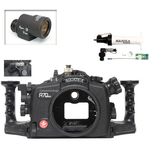 Aquatica A7D Mk II Underwater Housing for Canon 7D Mark II with Aqua VF and Vacuum Check System (Ikelite Manual Strobe Connector)