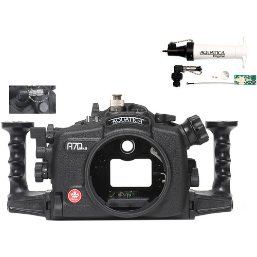 Aquatica A7D Mk II Underwater Housing for Canon 7D Mark II with Vacuum Check System (Ikelite TTL Strobe Connector)