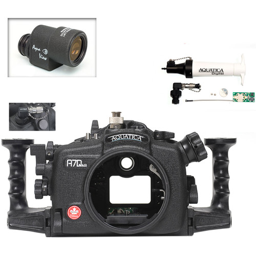 Aquatica A7D Mk II Underwater Housing for Canon 7D Mark II with Aqua VF and Vacuum Check System (Ikelite TTL Strobe Connector)