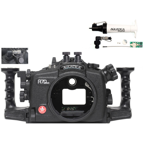 Aquatica A7D Mk II Underwater Housing for Canon 7D Mark II with Vacuum Check System (Dual Nikonos Strobe Connectors)