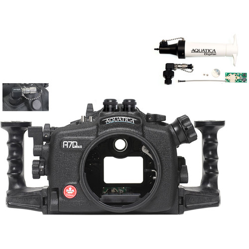 Aquatica A7D Mk II Underwater Housing for Canon 7D Mark II with Vacuum Check System (Dual Optical Strobe Connectors)