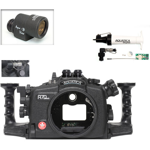 Aquatica A7D Mk II Underwater Housing for Canon 7D Mark II with Aqua VF and Vacuum Check System (Dual Optical Strobe Connectors)