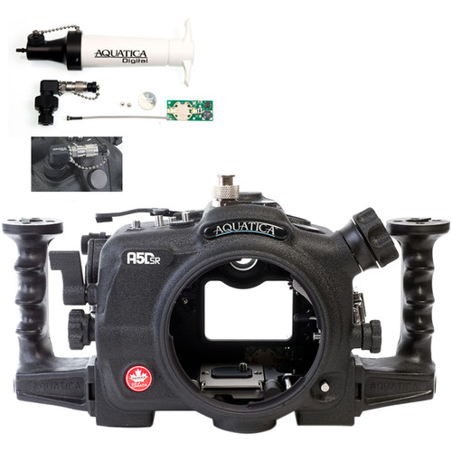 Aquatica A5DSR Pro Underwater Housing for Canon 5Ds, 5Dsr, or 5D Mk III and Vacuum Check System ( Ikelite TTL/Manual Strobe Connector)