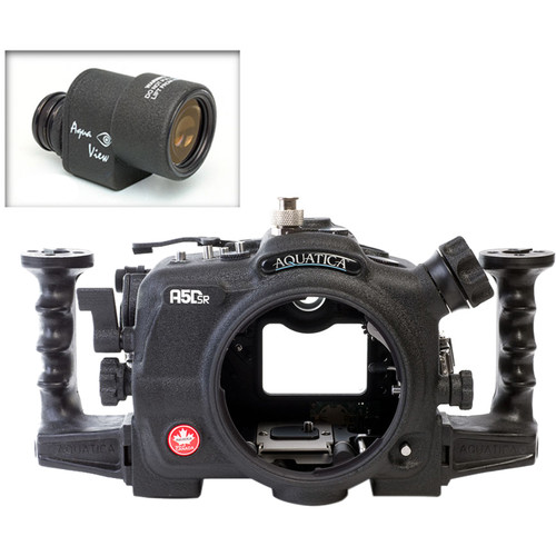 Aquatica A5DSR Pro Underwater Housing for Canon 5Ds, 5Dsr, or 5D Mk III with Aqua VF ( Ikelite TTL/Manual Strobe Connector)