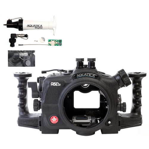Aquatica A5DSR Pro Underwater Housing for Canon 5Ds, 5Dsr, or 5D Mk III and Vacuum Check System (Dual Nikonos Strobe Connectors)
