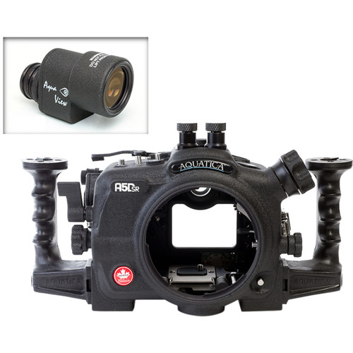 Aquatica A5DSR Pro Underwater Housing for Canon 5Ds, 5Dsr, or 5D Mk III with Aqua VF (Dual Nikonos Strobe Connectors)