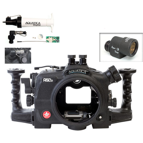 Aquatica A5DSR Pro Underwater Housing for Canon 5Ds, 5Dsr, or 5D Mk III with Aqua VF and Vacuum Check System (Dual Nikonos Strobe Connectors)