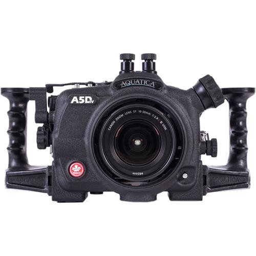 Aquatica A5DMkIV Underwater Housing for Canon EOS 5D Mark IV with Aqua VF & Vacuum Check System (Dual Nikonos Strobe Connectors)