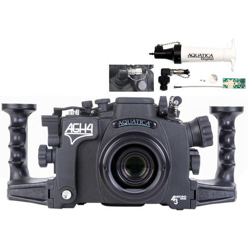 Aquatica AGH4 Underwater Housing for Panasonic GH4 with Vacuum Check System (Dual Fiber-Optic Strobe Connectors)