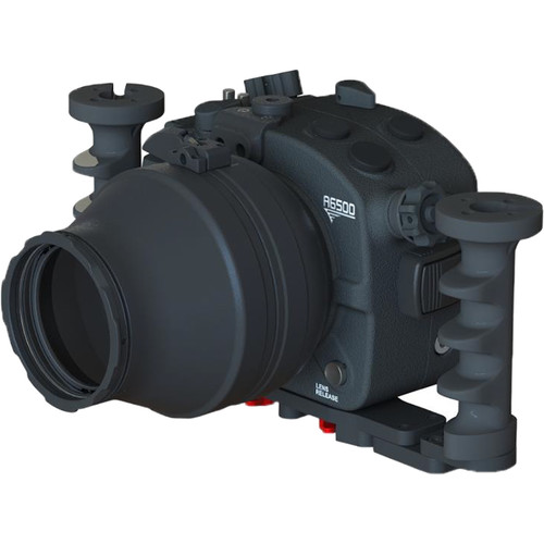 Aquatica A6500 Underwater Housing for Sony Alpha a6500 with Vacuum Check System (Dual Fiber-Optic Strobe Connectors)