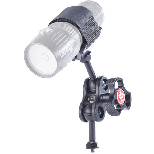 Aquatica Delta 3 Light Saddle Adapter with Ball Mount and Double-Ball Clamp for Lighting Arm