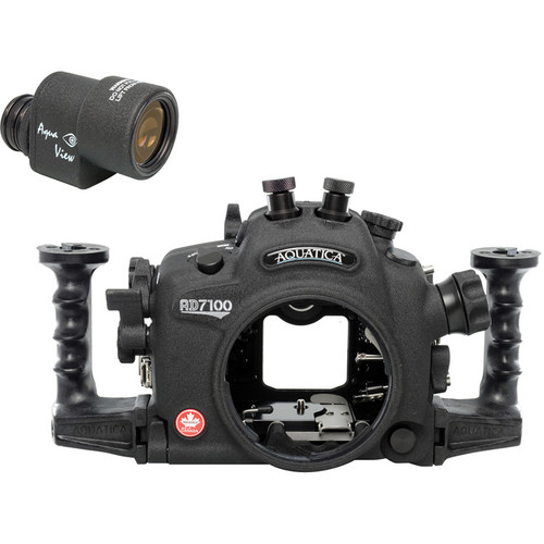 Aquatica AD7100 Underwater Housing with Aqua VF and Nikon D7100 DSLR Camera Body Kit (Dual Nikonos Strobe Connectors)