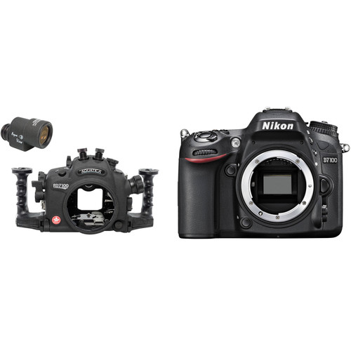 Aquatica AD7100 Underwater Housing with Aqua VF and Nikon D7100 DSLR Body Kit (Dual Nikonos Strobe Connectors)