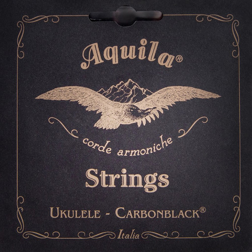 Aquila 143U High G Tenor Uke String Set - GCEA Tune /Carbon Black