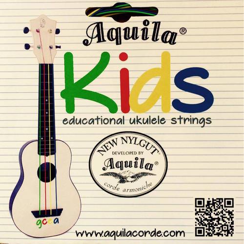Aquila Kids Color-Coded Educational Ukulele String Set