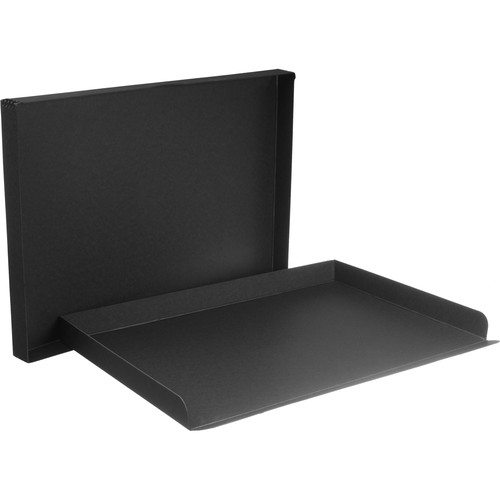 "Archival Methods Drop-Front Archival Storage Box (17.5 x 25.5 x 1.5"", Black)"